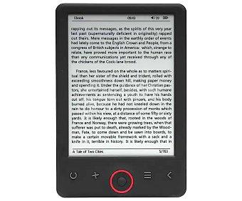 """Denver Libro electrónico de 15,24 cm (6"""") pantalla táctil, Wi-Fi, 4GB, microsd EBO-620"""