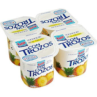 Kalise Yogur con trozos de piña Pack 4 unidades de 125 gr