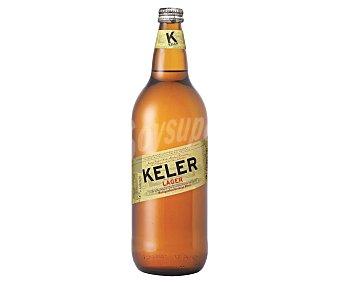 Keler Cerveza rubia estilo lager de origen Donostia Botella 1 l