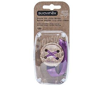 Suavinex Broche con forma de botón y práctica cinta suavinex