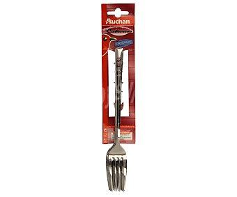 Auchan Tenedores de mesa fabricados en acero inoxidable, modelo Alisas Pack de 3 unidades