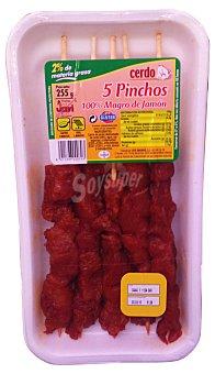 Jovi Pinchos cerdo magro jamon rojo C/ varilla fresco Bandeja 255 g (5 unidades)