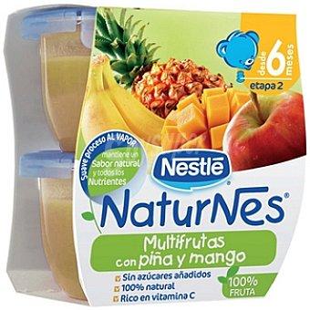 Naturnes Nestlé Tarrito multifrutas con piña y mango +6 meses pack 2 x 130 g estuche 260 g Pack 2 x 130 g