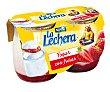 Yogur natural con textura cremosa y fresas 2 x 125 g La Lechera Nestlé