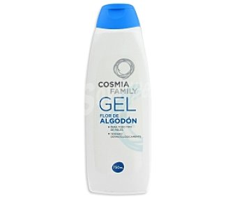 Cosmia Gel de baño o ducha con flor de algodón para todo tipo de pieles 750 mililitros