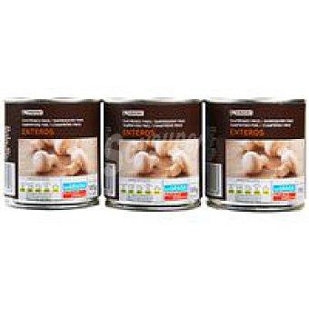 Eroski Champiñon entero Pack 3x105 g