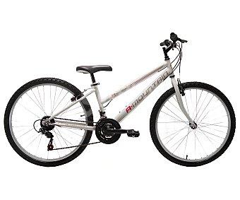 """A-MOUNTAIN Bicicleta de montaña de 26 pulgadas cuadro de acero, mujer Bici montaña 26"""" 18V"""