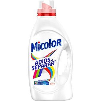 Micolor Detergente máquina líquido gel -transferencia de colores adiós al separar Botella de 22 dosis