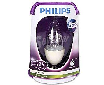 Philips Bombilla led vela 3.5 Watios, casquillo E14 (fino), luz cálida 1 unidad