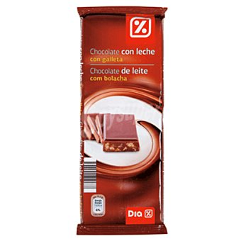 DIA Chocolate con leche con galleta Tableta 300 gr