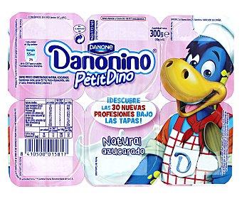 Danonino Danone Petit Suisse Natural con Azúcar 6 Unidades de 55 Gramos