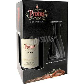 Protos Vino tinto crianza D.O. Ribera del Duero + 2 copas Estuche 2 botellas 75 cl