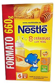 Nestlé Papilla en polvo de 8 cereales a partir de 6 meses Caja de 660 g