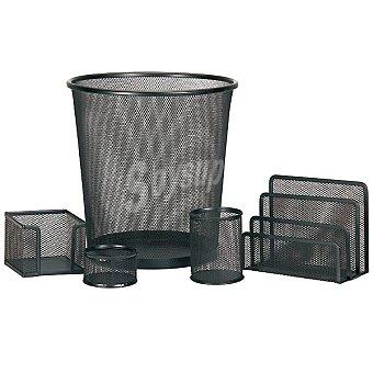 SUN FOCUS set de oficina metálico 5 piezas en color negro