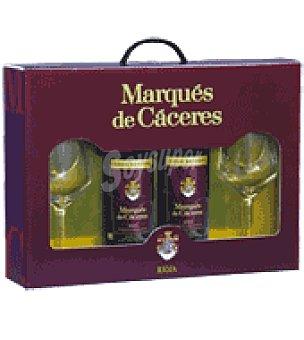 Marqués de Cáceres Estuche Vino D.O. Rioja Pack de 2x75 cl