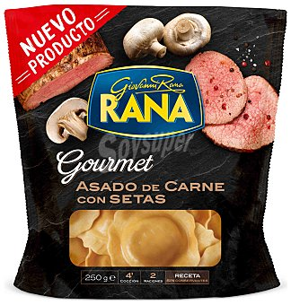 Rana Gourmet ravioli relleno de carne asada con setas 2 raciones Envase 250 g