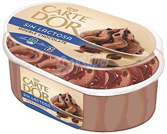 Carte D'Or Frigo Helado de doble chocolate Carte D'or sin lactosa 850 ml