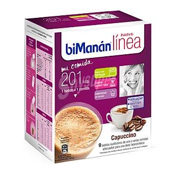 Bimanan Batido cappuccino dieta hiperproteica Pack de 9x30 g