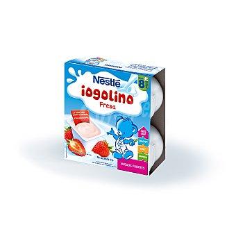 NESTLE IOGOLINO Postre lacteo de fresa estuche 400 g 4x100 g