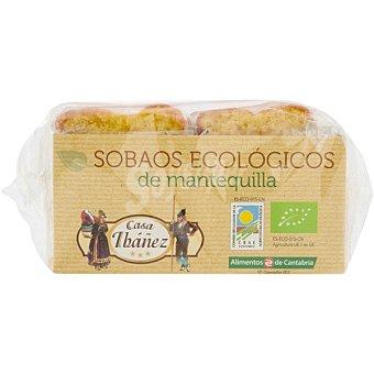 CASA IBAÑEZ Sobaos ecológicos de mantequilla envasados individualmente Caja 360 g