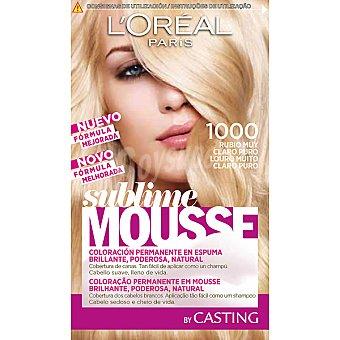 Sublime L'Oréal Paris Tinte permanente rubio muy claro puro nº 1000 caja 1 unidad