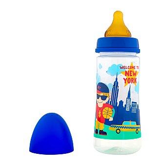 Deliplus Biberon boca ancha 360 ml azul U