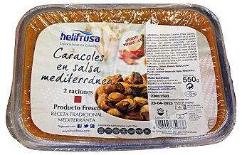 HELIFRUSA Caracoles en salsa Mediterráneo Bandeja de 550 g