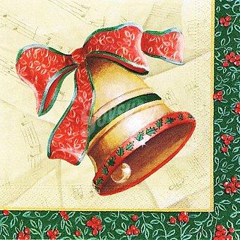 Papstar Servilletas decorado campana de Navidad Paquete 20 unidades