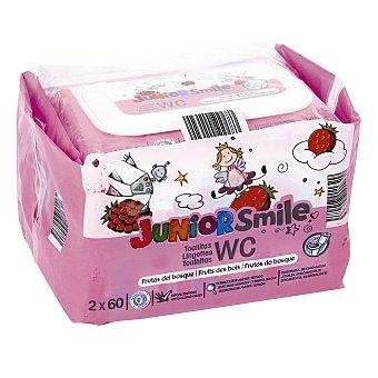 JUNIOR SMILE Toallitas wc aroma frutas del bosque Pack 2x60 uds