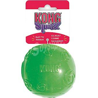 KONG SQUEEZZ Juguete para perro de caucho con forma de pelota colores surtidos talla M medida 12 cm 1 unidad 1 unidad