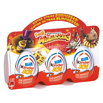 KINDER JOY Huevo sorpresa chocolate 3X60 GR 3X60 GR