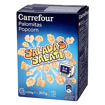 Carrefour Palomitas para microondas con sal Pack de 3x100 g