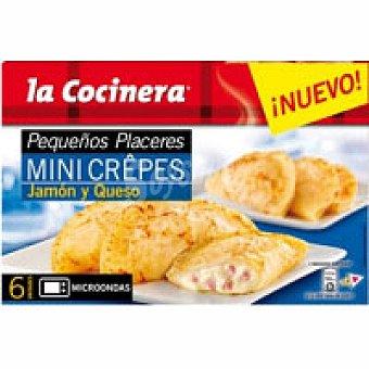 La Cocinera Mini crepes de jamón-queso Caja 255 g