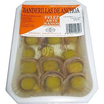 CONCHI Banderillas de anchoa Bandeja 6 unidades