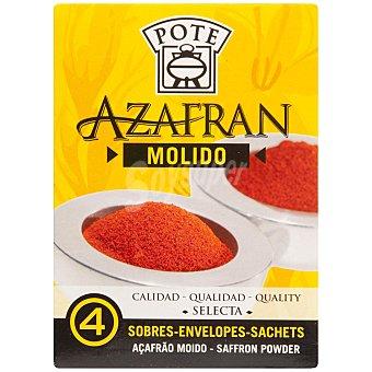 Pote Azafrán molido caja  400 mg (0,4 g)