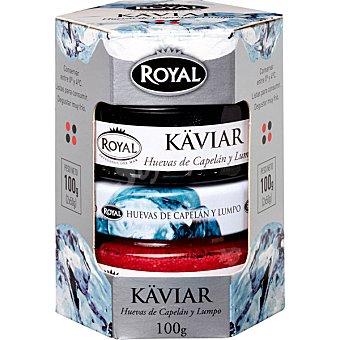 Royal dúo de huevas de Islandia lumpo y capelán Pack 2 tarro 50 g