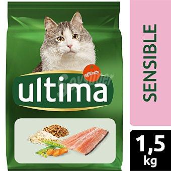 Ultima Affinity Alimento completo con trucha, arroz y cereales para gatos con digestión sensible Saco 1,5 kg