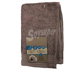 AUCHAN Toalla de tocador lisa color marrón de algodón egipcio, 630 gramos/m², 30x50 centímetros 1 Unidad