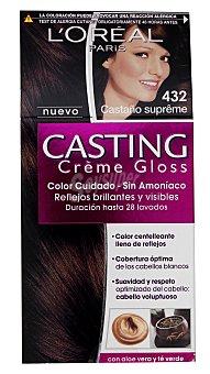 Casting Crème Gloss L'Oréal Paris Tinte Castaño Supreme Nº 432 1 Unidad