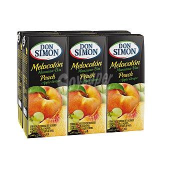 Don Simón Zumo de melocotón, manzana y uva Pack 6 unidades 200 ml