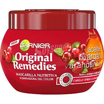 ORIGINAL REMEDIES Mascarilla nutritiva iluminadora del color con aceite de argán y arándanos para cabello teñido o con mechas Tarro 300 ml