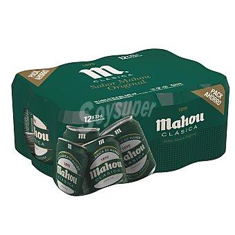 Mahou Cerveza rubia nacional Pack 12 latas x 33 cl