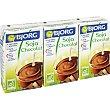 Bebida de soja con chocolate ecológica envase mini 3 unidades de 25 cl Bjorg