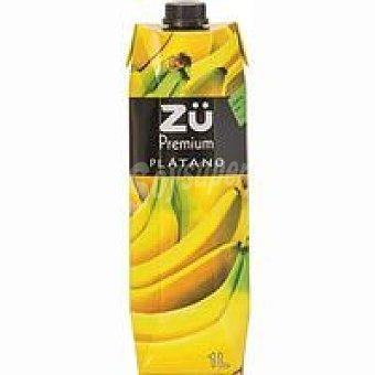 Zü Premium Néctar de plátano Brik 1 litro