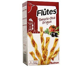 Auchan Flautas Hojaldradas con mantequilla, tomate, aceitunas negras y orégano 100 Gramos