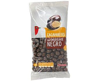 Auchan Cacahuete recubiertos con chocolate negro 250 gr