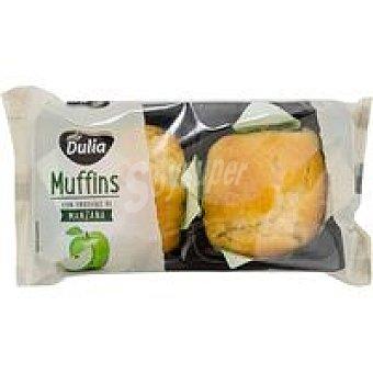 Muffins de manzana dulia, 2 unid Paquete 200 g