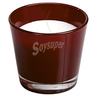 SPAAS Vela Perfumada en vaso cónico en color burdeos