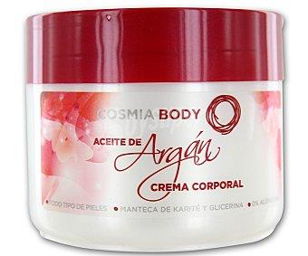 COSMIA Body Crema corporal aceite de argán para todo tipo de pieles con manteca de karité, glicerina y 0% alérgenos cosmia 200 mililitros