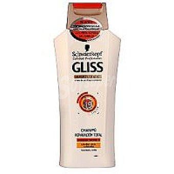 Gliss Champú reparación total con keratina líquida para cabello seco  Frasco 300 ml